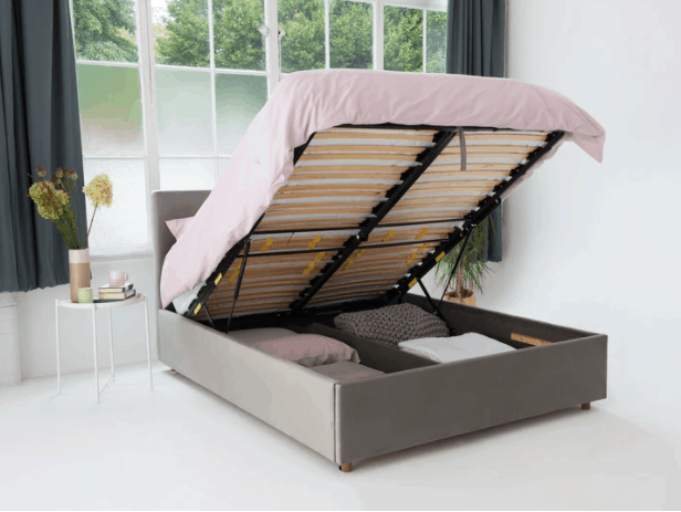 Eve Button Back Storage Bed